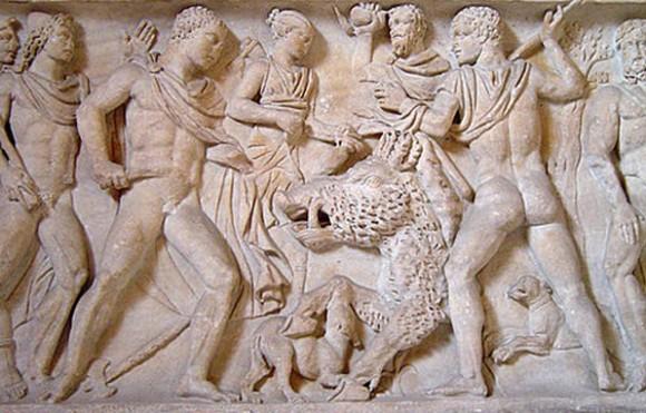 Убийството на Калидонския глиган (фриз)