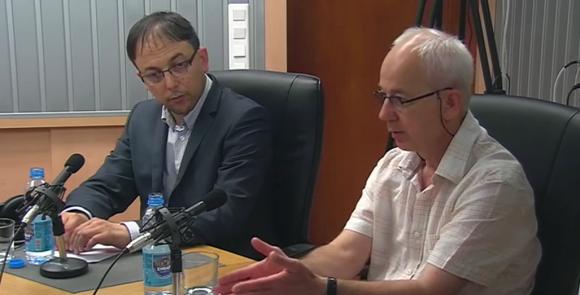 Борис Вангелов и проф. Любомир Гаврилов