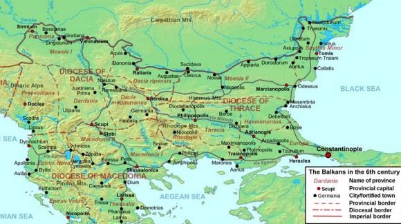 Карта с очертание на трасето на древния Виа Милитарис