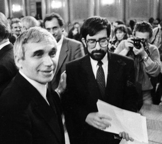 Бившият министър-председател Филип Димитров и покойният вече президент Желю Желев