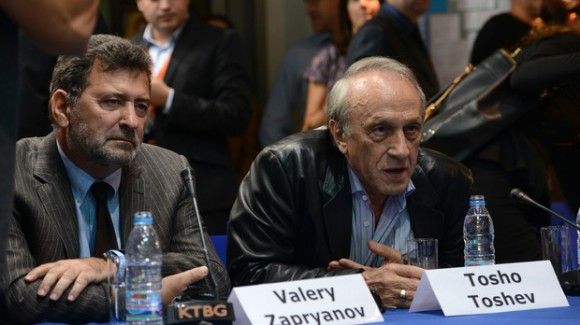 """Валери Запрянов (вляво) и Тошо Тошев (вдясно) са от отдавна в издателския бизнес. Снимка:  Цветелина Белутова, в. """"Капитал"""""""