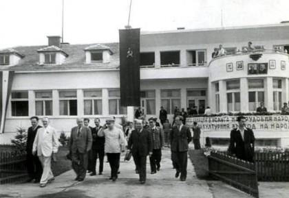 Летище Враждебна, 29.06.1947 г. Откриване на вътрешните въздушни линии и санитарната авиация. Снимка: Рhotoarhiv-todorslavchev.com