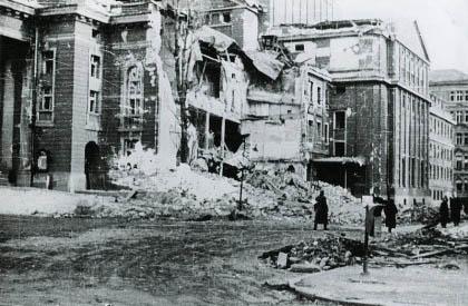 Разрушения в София след голямата бомбардировка на 10.01.1944 г. Снимка: stara-sofia.com