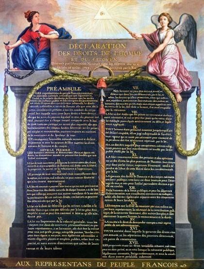 Декларацията за правата на човека и гражданина. Източник: en.wikipedia.org