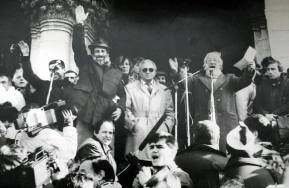 Момент от митинга на 18 ноември 1989 г.