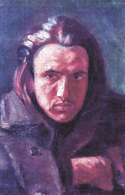 Портрет на Емануил Попдимитров, направен от Владимир Димитров – Майстора през 1906 г. Тогава Майстора е на 24 години, а Попдимитров – на 21.