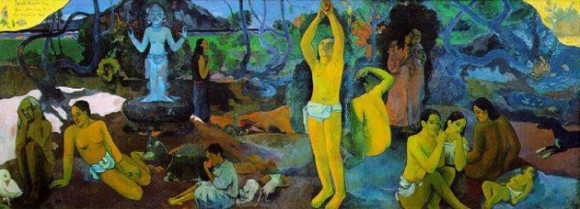 """Gauguin, """"Where did we come from? What are we? Where are we going?"""" (1897)"""