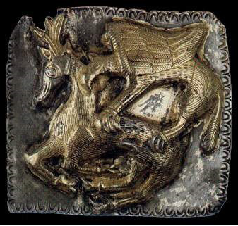 Артефакт от съкровището от гр. Летница. Грифон напада елен