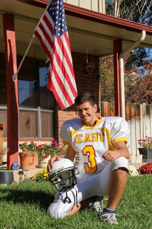 East High Footbal Player