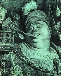 "Гюстав Доре, ""Пантагрюел обядва"". Илюстрация към ""Гаргантюа и Пантагрюел"" на Рабле"
