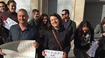Протест на българи в Брюксел срещу последните промени в Изборния кодекс. Снимка: Вanker.bg