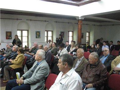 """Момент от сесиите на конференцията във Възрожденското училище в Кюстендил. Снимка: КИЦ """"Босилеград"""""""