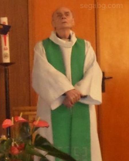 """Убитият френски свещеник Жак Амел. Снимка: в. """"Сега"""""""