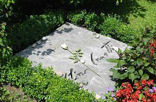 Гробът на Елиас Канети в Цюрих