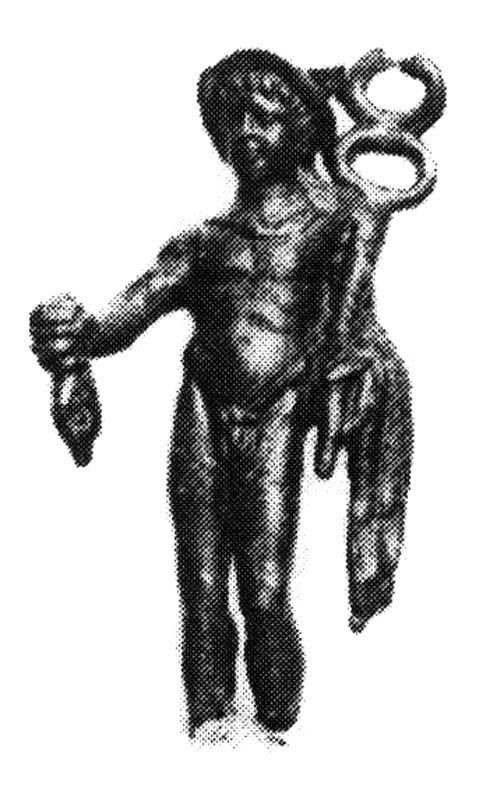 Фиг. 18. Хермес с кадуцей и торба булга, Арчар