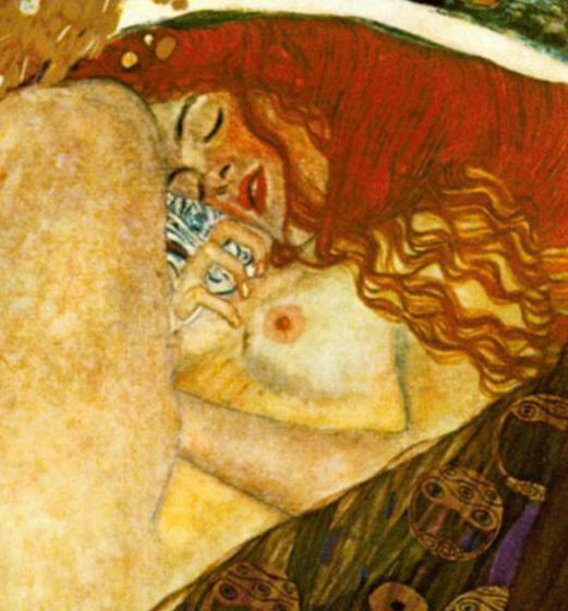 """Илюстрация: Густав Климт, """"Даная"""", фрагмент"""