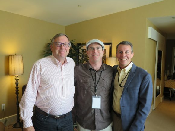 Стивън Петранек , Андрю Уир ( автор на романа 'Марсианецът ' , който е направен едноименния филм с Мат Демън ) и Д-р Робърт Д. Броун на кръглата маса / пресс конференция на NatGeo !