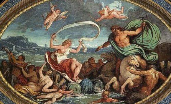 Женитбата на Посейдон и Амфитрита, 1802 г. - 1805 г. картина на Феличе Джани (1758–1823)