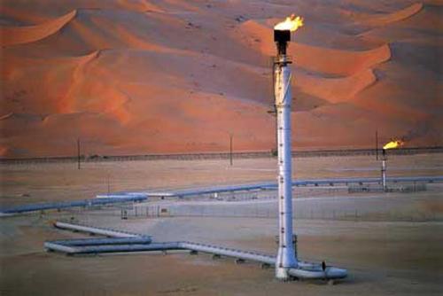 """Петролно поле в Саудитска Арабия. Снимка: """"Ди Велт"""""""
