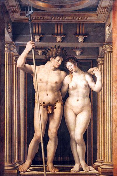 Посейдон и Амфитрита, 1516 г. картина на Ян Госарт (1478–1532). Източник: godsbay.ru