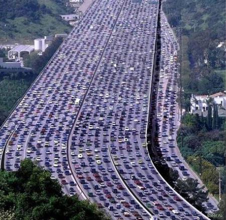 Задръстване в Китай. Снимка: steer.ru