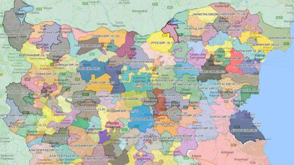231 района за гласуване в България Автор: Инициативен комитет за референдум 2016