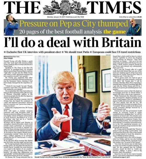 """Тръмп пред """"Таймс"""""""