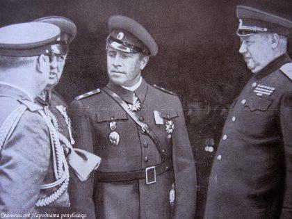 Среща на ген. Владимир Стойчев с маршал Толбухин в гр. Сегетвар, март 1945 г.