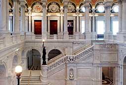 Едно от вътрешните стълбища на Конгресната библиотека. Снимка: www.loc.gov
