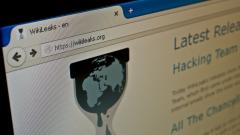 Katowice, Poland - July 11, 2015: Official Wikileaks website.