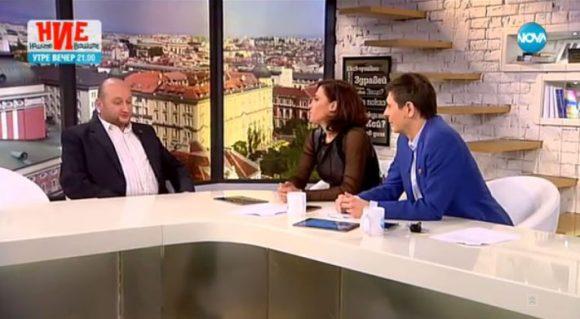 Христо Радков в студиото наНова телевизия