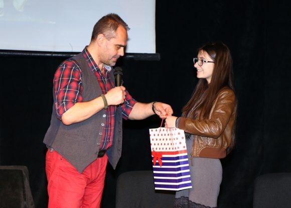 Асен Йорданов и наградената Сабел Гератлиева