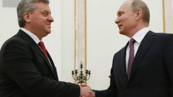Владимир Путин и Георге Иванов. Снимка: Ройтерс