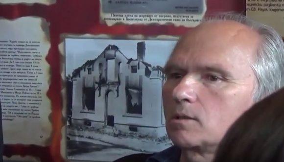 Иван Николов на откриването на фото-документалната изложба