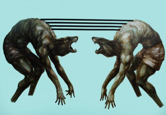 Илюстрация: Франко Фазоли, Homo homini lupus