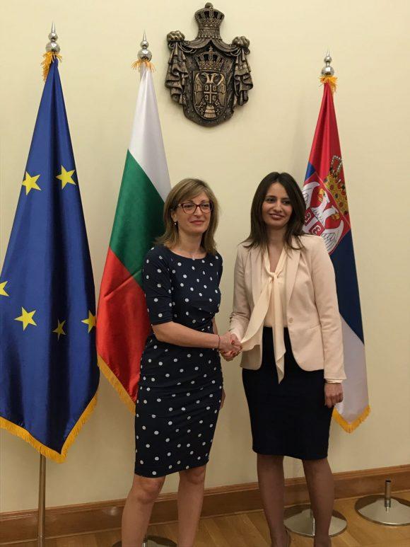 Екатерина Захариева и Нели Кубратович. Снимка: МВнР