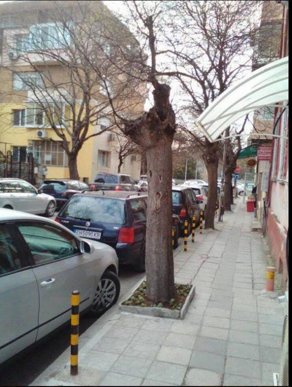 Грозни гледки из малките улици в центъра на Варна непосредствено зад Общината!
